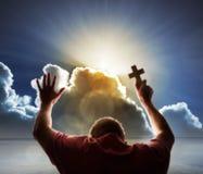 Adoración, amor y espiritualidad Foto de archivo libre de regalías