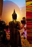 Adoración Buda de la gente Fotografía de archivo libre de regalías