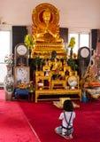 Adoración Buda del niño Fotografía de archivo libre de regalías