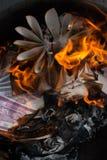 Adoración de antepasado en Año Nuevo chino Imágenes de archivo libres de regalías