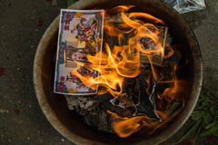 Adoración de antepasado en Año Nuevo chino Fotografía de archivo libre de regalías
