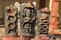 Adoración de dioses de la serpiente Fotografía de archivo