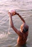Adoración de Ganga Fotografía de archivo