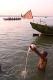 Adoración de Ganga Fotos de archivo libres de regalías