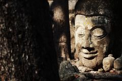 Adoración de la estatua de Buda en Tailandia, historia de Tailandia Imagen de archivo