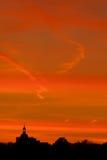 Adoración de la puesta del sol Foto de archivo libre de regalías