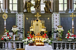 Adoración de las conductas del sacerdote Fotografía de archivo