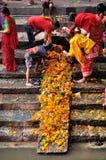 Adoración de Lingam Fotografía de archivo libre de regalías