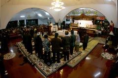 Adoración de los católicos Imágenes de archivo libres de regalías