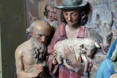 Adoración de los pastores Imágenes de archivo libres de regalías