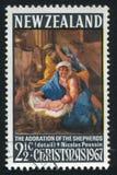Adoración de los pastores de Nicolas Poussin Imagenes de archivo