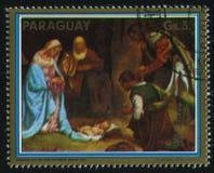 Adoración de los pastores por Giorgione Foto de archivo libre de regalías
