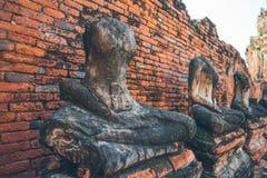 Adoración de Tailandia, estatua de Buda, historia de Tailandia Imagen de archivo