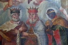 Adoración de unos de los reyes magos Imagen de archivo libre de regalías