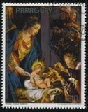 Adoración de unos de los reyes magos de Rubens Imagen de archivo