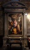 Adoración de unos de los reyes magos Fotos de archivo