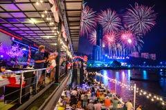 Adoración del Año Nuevo en Tailandia Imágenes de archivo libres de regalías