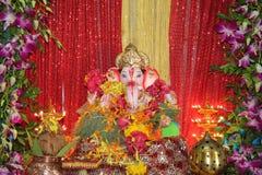 Adoración del festival de dios del elefante Imagenes de archivo