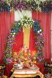 Adoración del festival de dios del elefante Fotos de archivo