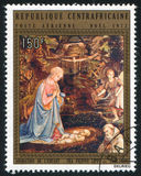 Adoración del niño Imagen de archivo
