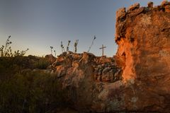Adoración en la montaña del cedro Foto de archivo libre de regalías