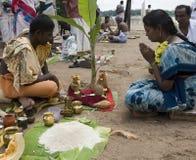 Adoración hindú - Srirangam - la India Imágenes de archivo libres de regalías