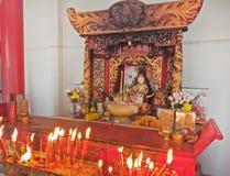 Adoración interior, china de dios en Tailandia Fotos de archivo