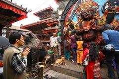 Adoración a Kali, la diosa de Nepal Fotografía de archivo libre de regalías