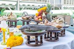Adoración por la comida por Año Nuevo chino Fotografía de archivo libre de regalías