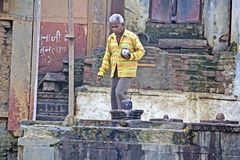 Adoración a Shiva-lingam Imagen de archivo libre de regalías