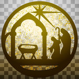 Adoracja Magi sylwetki ikony ilustraci czerń ilustracji