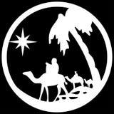 Adoracja Magi sylwetki ikony ilustracyjny biel ilustracji