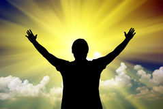 Adoração ao deus Imagem de Stock