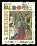 Adoration de peinture des Rois mages Photo stock