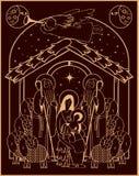 Adoration des magi Mary et Jésus illustration stock
