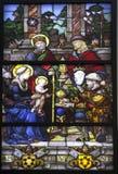 Adoration du verre souillé de Rois mages Photos libres de droits