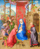 Adoration of the Magi by Hugo van der Goes (15th Century) Royalty Free Stock Photos