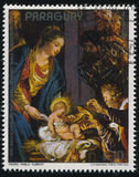 Adoration of the Magi by Rubens. RUSSIA KALININGRAD, 15 APRIL 2017: stamp printed by Paraguay, shows Painting Adoration of the Magi by Rubens, circa 1977 Stock Image