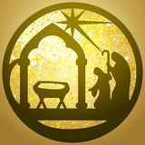 Adoration of the Magi silhouette icon  illustration black. On white background. Scene of the Holy Bible Royalty Free Stock Photography