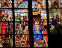 Adoration of the Magi & x28;Epiphany& x29; - Stained Glass Royalty Free Stock Photography