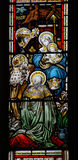 Adoration stained glass window Royalty Free Stock Photos