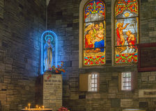 Adoration of Virgin Mary at Notre Dame Cathedral in Saigon. Royalty Free Stock Photography