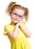 Adorbale child in glasses isolated Royalty Free Stock Photography