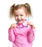 Adorbale kid with glasses royalty free stock image