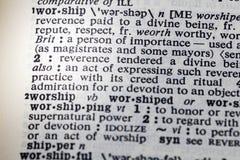 Adore a definição da devoção do poder da honra imagem de stock