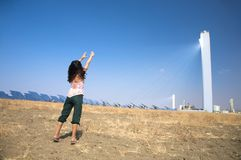 Adore solar power tower Royalty Free Stock Image