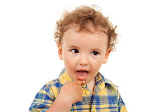 Adoreble little boy Stock Images