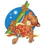 adormecido animal pequeno dos desenhos animados do vetor Imagem de Stock Royalty Free