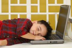 Adormecido no trabalho imagens de stock