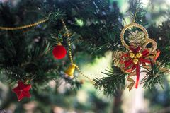 Adorn for christmas tree. On a celebrate stock photography